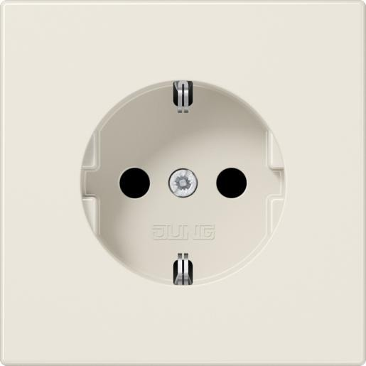 1-voudige wandcontactdoos randaarde wit(creme) LS 1520 N
