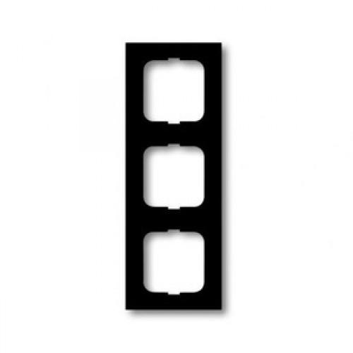 Afdekraam 3-voudig linear zwart mat