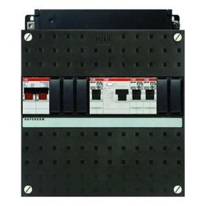 Haf HAD3201-20+H42 3-groepen 1-aardlek 2P 40A en hoofdschakelaar 2P 40A 22x22cm