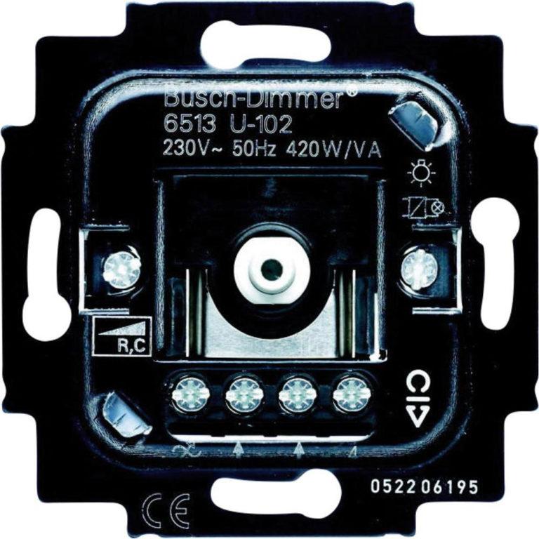 Busch-Jaeger 6513U-102 dimmer elektronische trafo