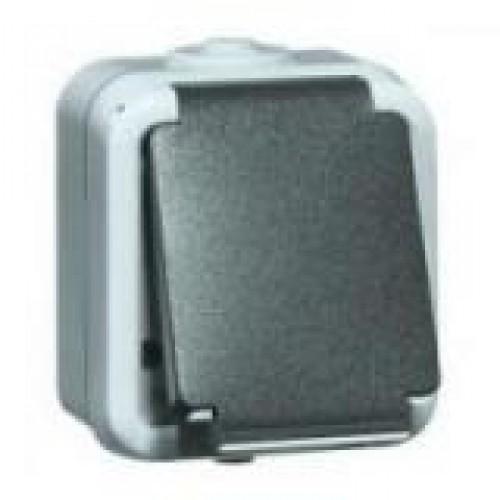 Peha Wcd opbouw IP54, 1-voudig, met ra, grijs met klapdeksel