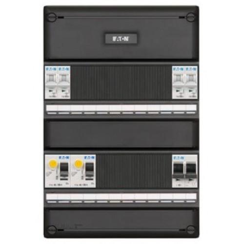Eaton Holec I-42G1400-HS-64 4 groepenkast+2x aardlek+hoofdschakelaar