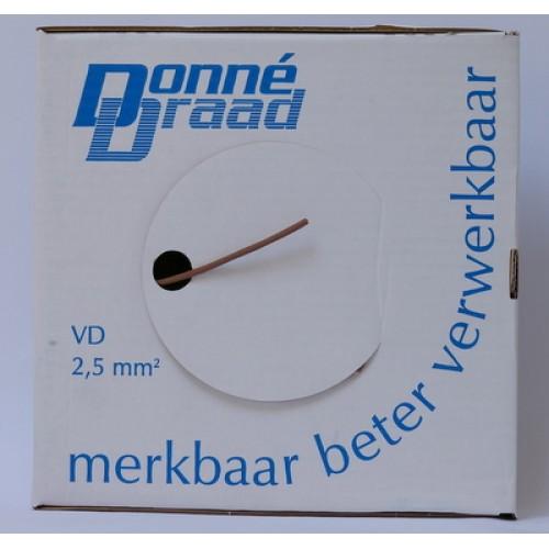 Donné vd draad Eca 2.5mm² bruin Nieuwe Norm 2017