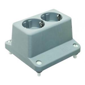 ABB HAF 3640W2 Deksel met 2-voudige wandcontactdoos