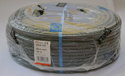 Nexans YMVK Dca installatiekabel 5G2,5mm² Grijs