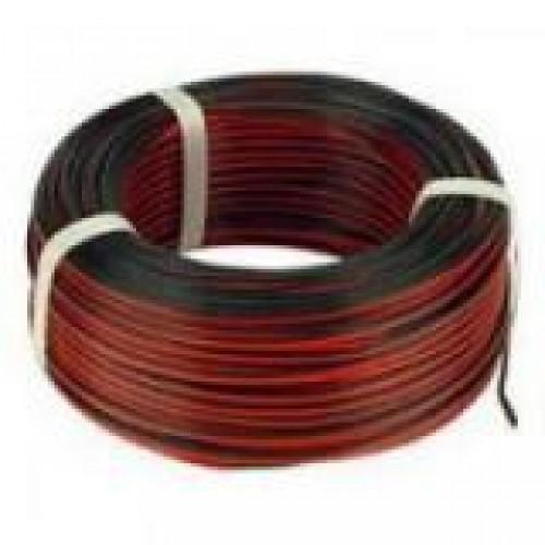 HLSS Luidsprekersnoer 2X0,5MM2 rood/zwart 100mtr