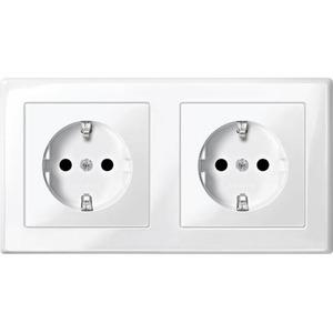 M-smart dubbele wcd randaarde tbv dubbele inbouwdoos polarwit