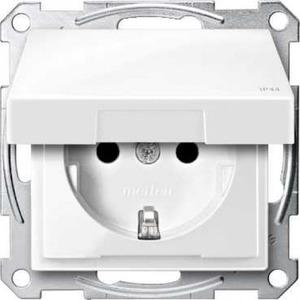 Merten SYSTEEM M wandcontactdoos RA 1V KV Wit MTN2314-0319