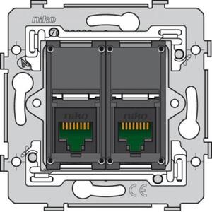 Niko 2v RJ45 cat.6 data wandcontactdoos