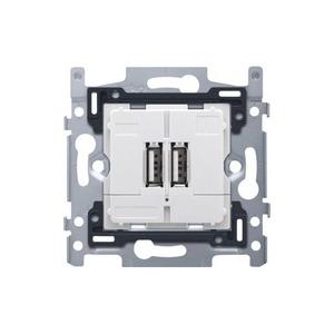 Niko USB-lader met 2 aansluitingen