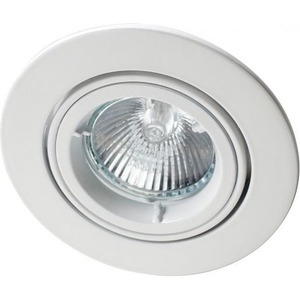 Robus inbouwspot 96mm LED of Halogeen kantelbaar wit 230V