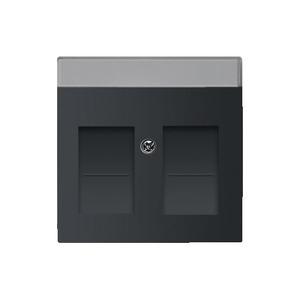 busch jaeger cpl 2xmod jack schuifjes f antraciet elektro. Black Bedroom Furniture Sets. Home Design Ideas