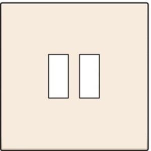 Niko centraalplaat voor USB lader 2-voudig creme