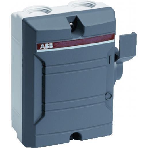 ABB werkschakelaar 4-Polig 25A opbouw