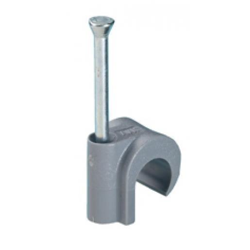 Spijkerclip 11/15mm grijs