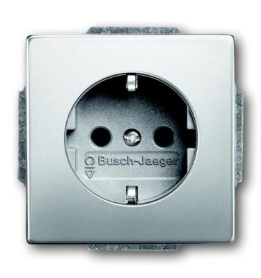 Busch-Jaeger Pure stainless steel wandcontactdoos RA 1V RVS