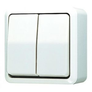 Jung AP600 opbouw serieschakelaar wit