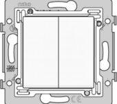 Niko serieschakelaar inbouw inclusief bijbehorende toets wit