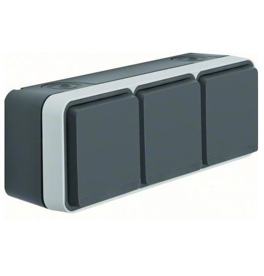 Berker-W1-wandcontactdoos-3-v-horizontaal-opbouw-waterdicht-IP55