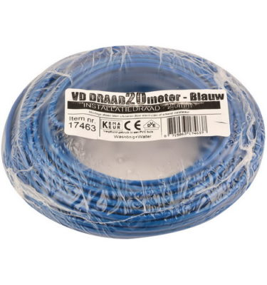 VD draad 2.5mm2 blauw op ring 20mtr