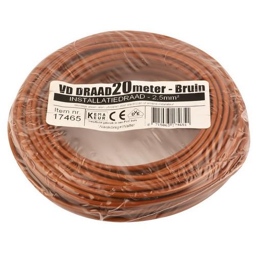 VD draad 2.5mm2 bruin op ring 20mtr