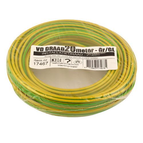VD draad 2.5mm2 geel/groen op ring 20mtr