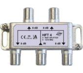 Astro HFT4 verdeler 4-voudig retourgeschikt met f-aansluiting tot 1.218 mhz