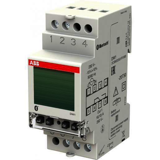 ABB Digitale tijdschakelklok, 1-kanaal, 16A DW1