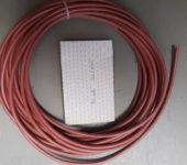Siliconensnoer 2x1mm2 hittebestendig 14 meter