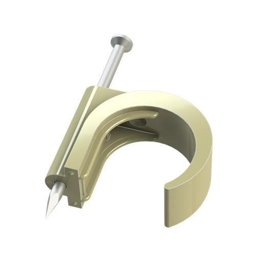 JMV spijkerclip voor vastzetten van flexbuis, 16-1920mm, creme
