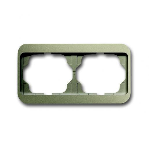 Busch-Jaeger Alpha nea afdekraam 2V horizontaal palladium