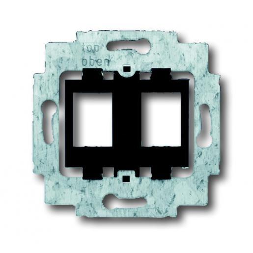 Busch-Jaeger draagring voor 2x modular jack zwart