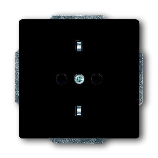 1-voudige wandcontactdoos randaarde antraciet