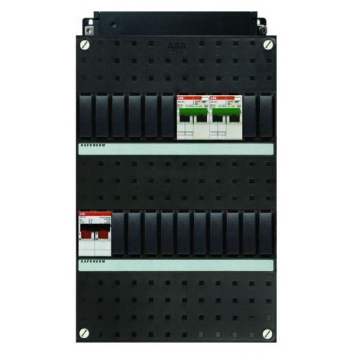 Haf HC200/1+H42 kast met 2 aardlekautomaten 16A 30mA en hoofdschakelaar 2P 40A