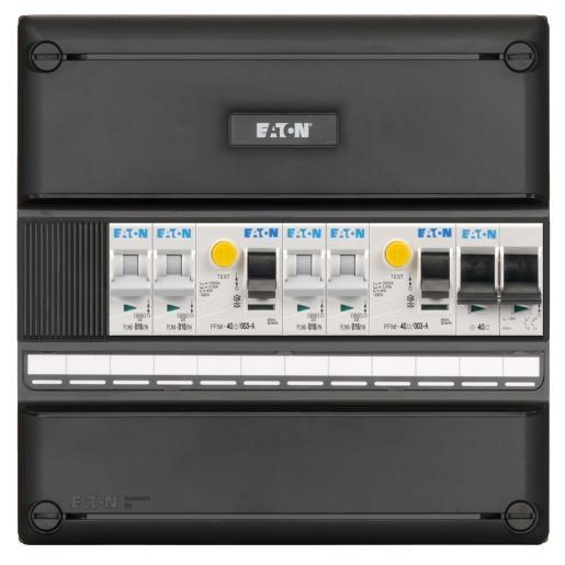 Eaton Holec I-42G1400-HS-44 4 groepenkast+2xaardlek+hoofdschakelaar 2P 40A