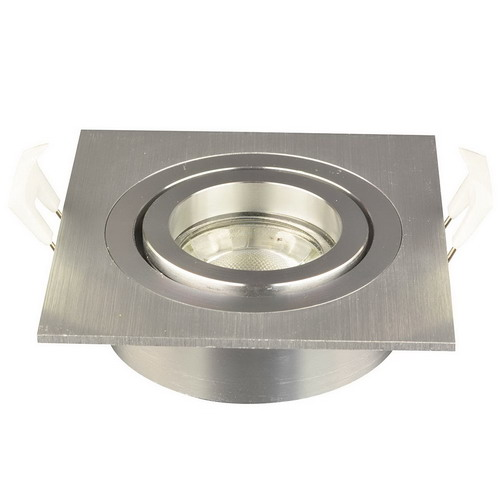 Nova vierkante inbouwspot geborsteld aluminium + GU10