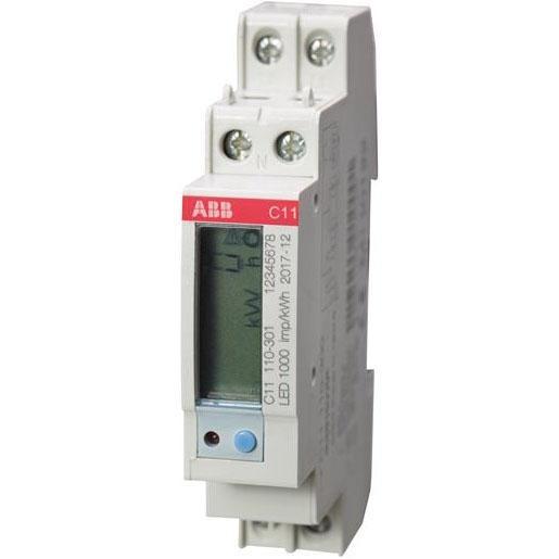 ABB Energiemeter 1x230vac 40a 1xs0 pulse of alarm(cl1) C11 110-301