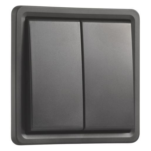 Niko Hydro serieschakelaar zwart met schroefklem 761-31505