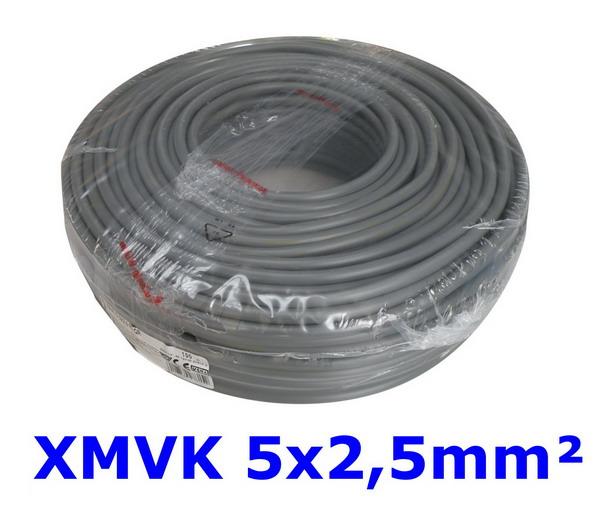Waskonig XMVK Eca lichte installatiekabel 5G2,5mm² Grijs