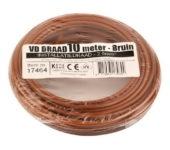 VD draad 2.5mm2 bruin op ring 10mtr