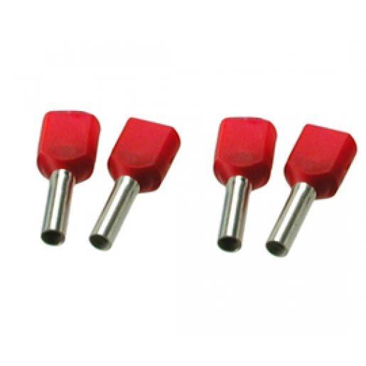 Newlec twinadereindhuls 2x1mm² 10mm geïsoleerd rood 100st.