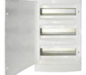 Opbouwkast 3x12 modulen met volle deur IP40