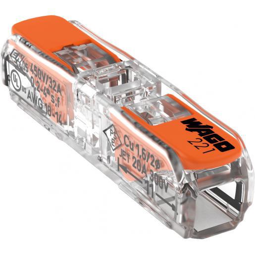 Wago doorvoerconnector voor alle soorten geleiders max. 4 mm²