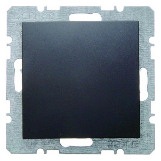 Berker S.1 centraalplaat blindplaat antraciet 10091606