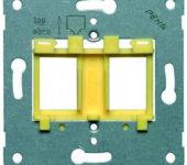 Peha centraalplaat Modular-Jack Metaal Geel 00740711 600MJ4